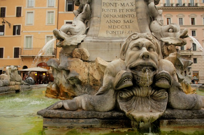 One of the many fountains of Rome.