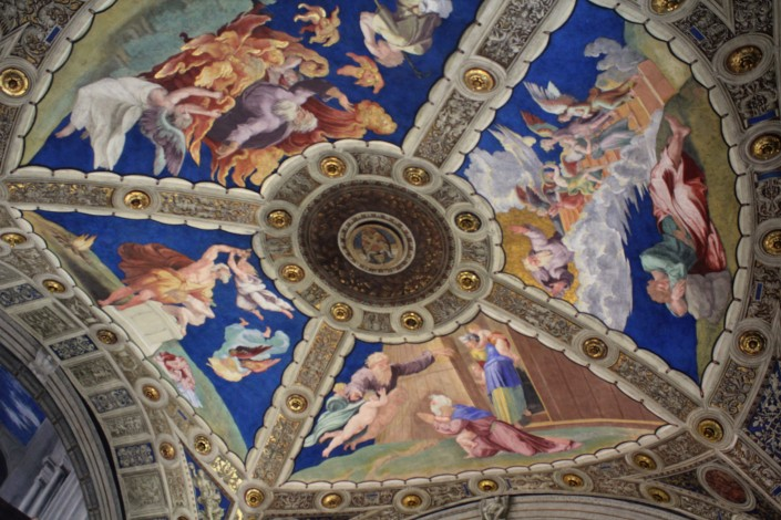 One of the Vatican's many stunning frescos.