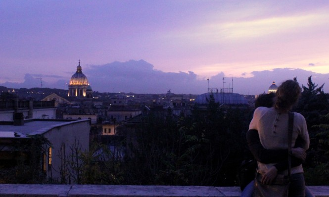 View of the city from Villa Borghese