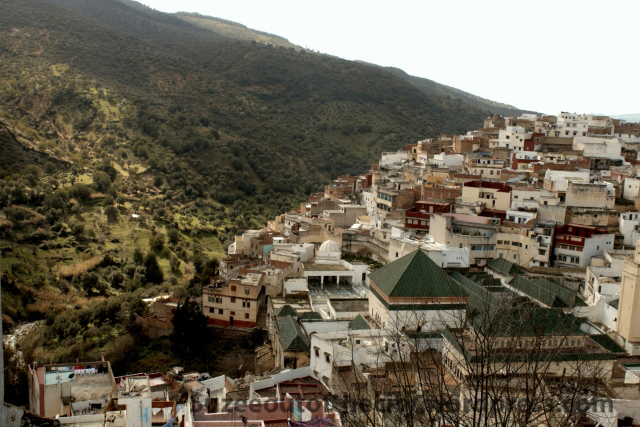 The hilltop town of Moulay Idris